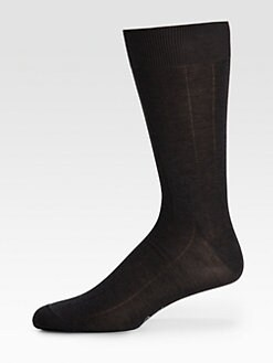 Brioni - Wide Pinstriped Dress Socks