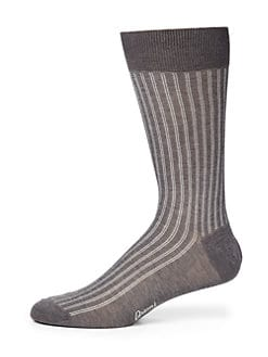 Brioni - Double Track Stripe Socks