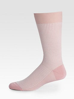 Brioni - Candy Stripe Cotton Socks