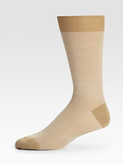 Brioni - Herringbone Cotton Socks