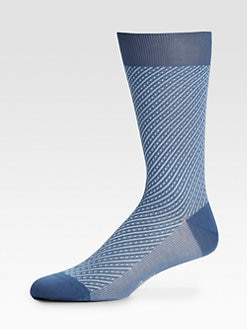 Brioni - Diagonal Fancy Striped Socks