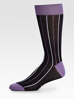 Brioni - Striped Cotton Blend Socks