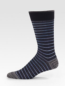 Robert Graham - Striped and Printed Dress Socks