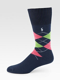 Polo Ralph Lauren - Cotton-Blend Argyle Socks