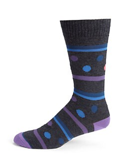 Marcoliani - Printed Cotton-Blend Socks
