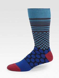 Paul Smith - Polka-Dot Stripe Socks