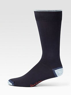 Robert Graham - Stripe-Detail Dress Socks