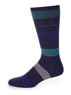 Hugo - Cotton Modal Striped Socks