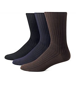 Saks Fifth Avenue Men's Collection - Ribbed Cotton OTC Socks