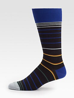 Paul Smith - Neon Jean Stripe Socks