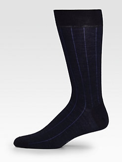 Brioni - Vertical-Chain Striped Socks