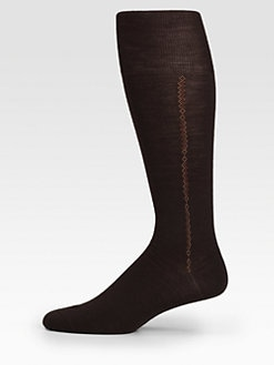 Brioni - OTC Vertical-Chain Stripe Socks