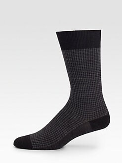 Marcoliani - Wool Jacquard/Houndstooth Socks