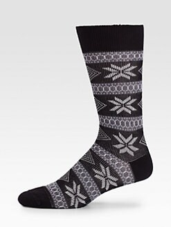 Marcoliani - Nordic-Print Wool Socks