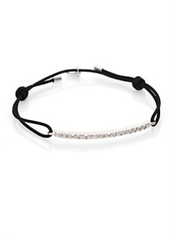 Marc by Marc Jacobs - Letterpress Bar Bracelet/Silvertone