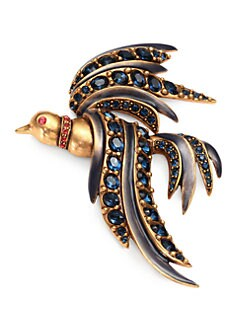 Oscar de la Renta - Crystal Bird of Paradise Brooch
