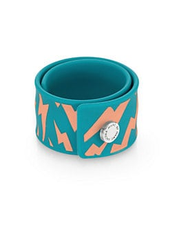 Marc by Marc Jacobs - Lightning Bolt Rubber Slap Bracelet