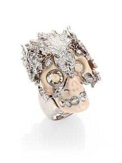 Alexander McQueen - Skull Owlet Ring