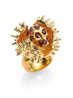 Alexander McQueen - Skull Chestnut Ring