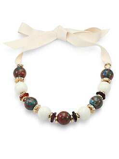 Marc by Marc Jacobs - Beaded Ribbon Necklace