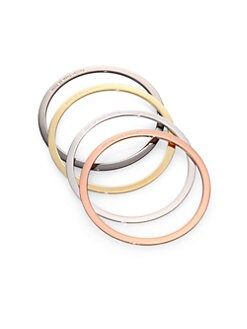Marc by Marc Jacobs - Mixed Metal Set of 4 Bangles