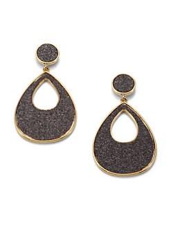 ABS by Allen Schwartz Jewelry - Glitter-Coated Drop Earrings