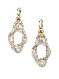 ABS by Allen Schwartz Jewelry - Geometric Layered Pave Drop Earrings
