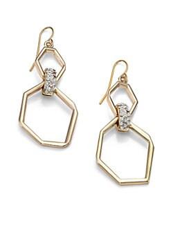 ABS by Allen Schwartz Jewelry - Geometric Pave Drop Earrings