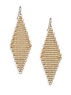 ABS by Allen Schwartz Jewelry - Chain Mesh Drop Earrings