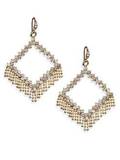 ABS by Allen Schwartz Jewelry - Geometric Fringe Drop Earrings