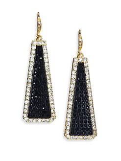 ABS by Allen Schwartz Jewelry - Pave Frame Linear Drop Earrings