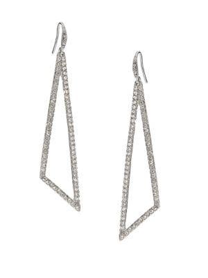 ABS BY ALLEN SCHWARTZ Pavé Triangle Drop Earrings