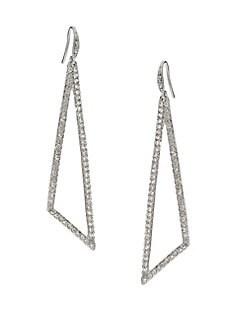 ABS by Allen Schwartz Jewelry - Pave Triangle Drop Earrings