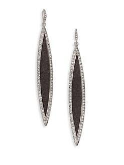 ABS by Allen Schwartz Jewelry - Black Sands Pavé Glitter Marquis Linear Drop Earrings