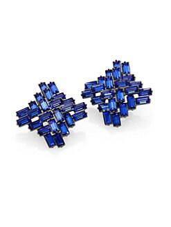 ABS by Allen Schwartz Jewelry - Jeweled Button Earrings