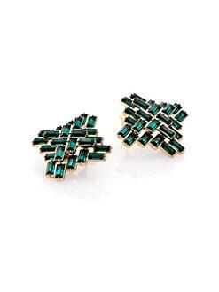 ABS by Allen Schwartz Jewelry - Box of Jewels Baguette Button Earrings