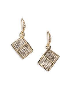 ABS by Allen Schwartz Jewelry - Box of Jewels Pavé Cube Drop Earrings
