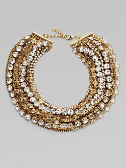 ABS by Allen Schwartz Jewelry - Glass Bib Necklace