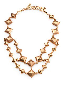 Oscar de la Renta - Double-Strand Pyramid Stud Necklace
