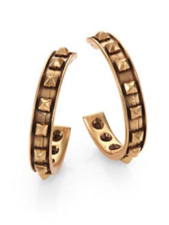 Oscar de la Renta - Stud Hoop Earrings/2