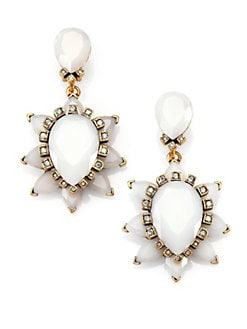 Oscar de la Renta - Swarovski Crystal Starburst Clip-On Earrings