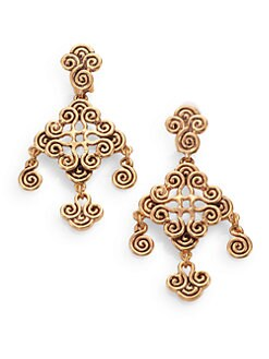 Oscar de la Renta - Curlicue Clip-On Chandelier Earrings