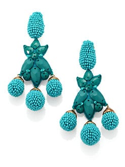 Oscar de la Renta - Beaded Star Drop Earrings