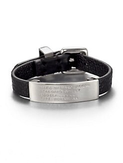 Marc by Marc Jacobs - Standard Supply Leather ID Bracelet/Black