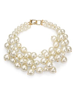 Kenneth Jay Lane - Faux Pearl Multi-Strand Necklace
