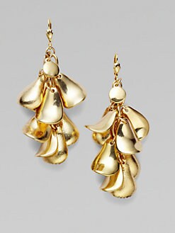 Milly - Golden Petal Drop Earrings