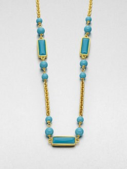 Kenneth Jay Lane - Enamel Station Necklace