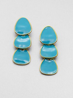 Kenneth Jay Lane - Enamel Triple Drop Earrings