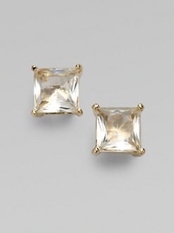 Kate Spade New York - Clear Square  Stud Earrings
