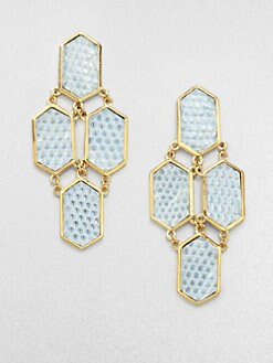 Kara by Kara Ross - Lizard Plaque Drop Earrings